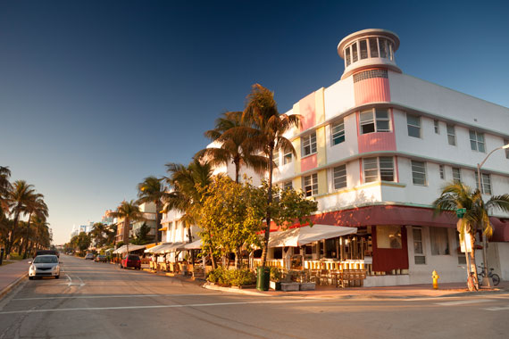 Historic South Beach Art Deco Area in Miami Beach