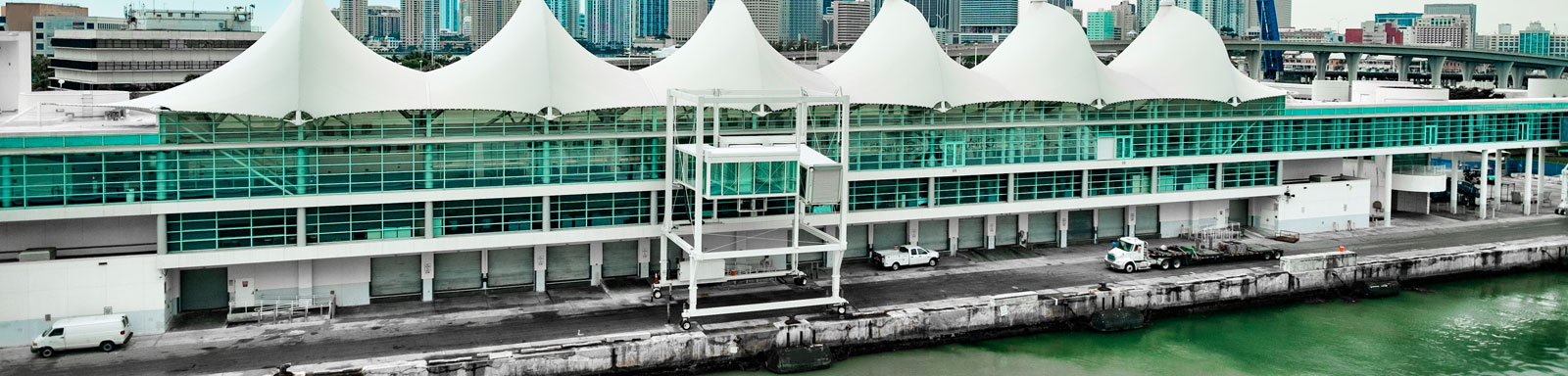 Port of Miami Cruise Ship Terminal in Florida